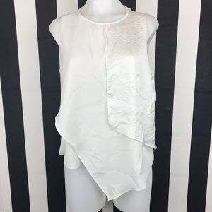 5 for $25 Zara WB Collection White Layered Tank